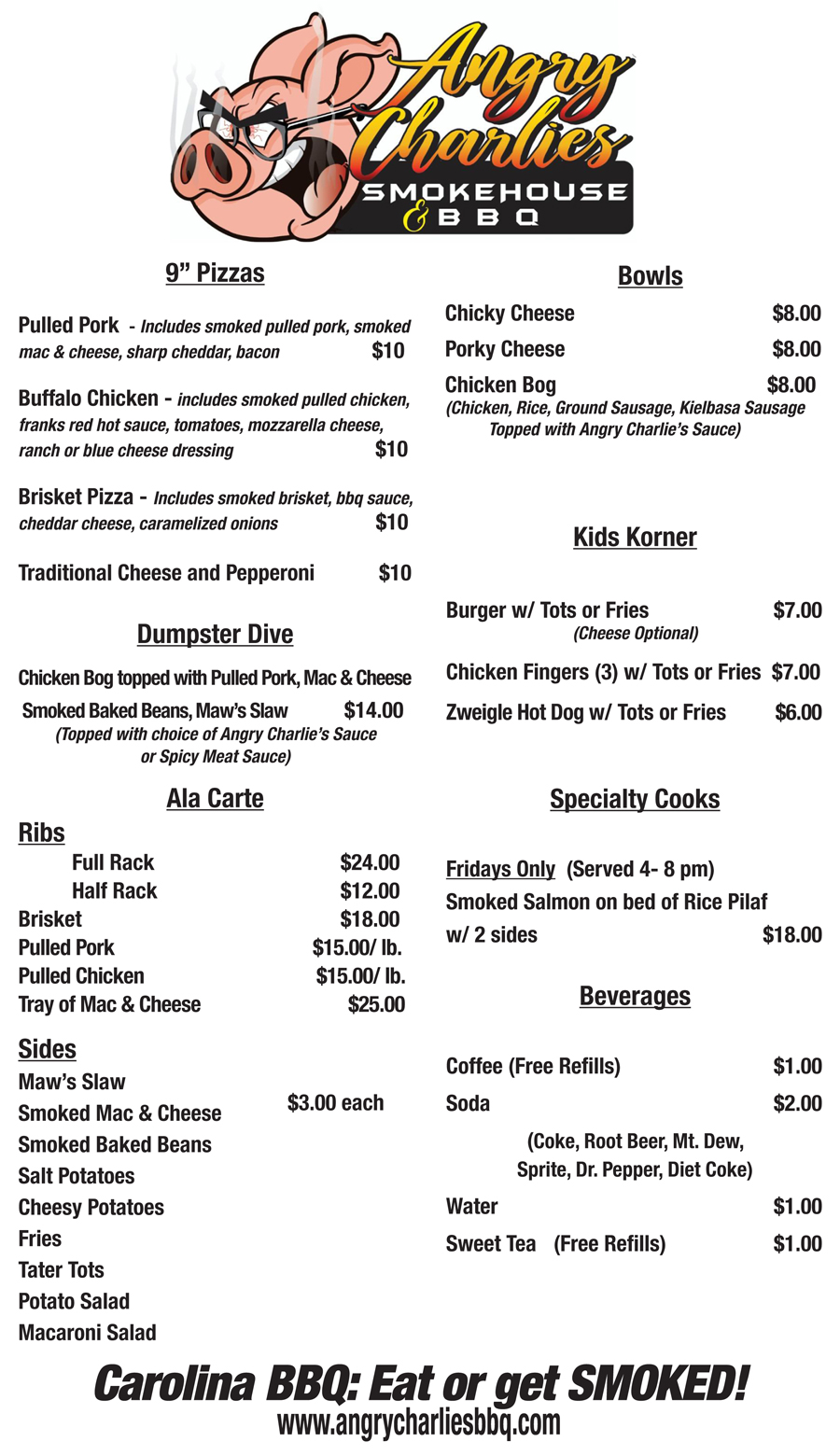 angry charlies bbq menu
